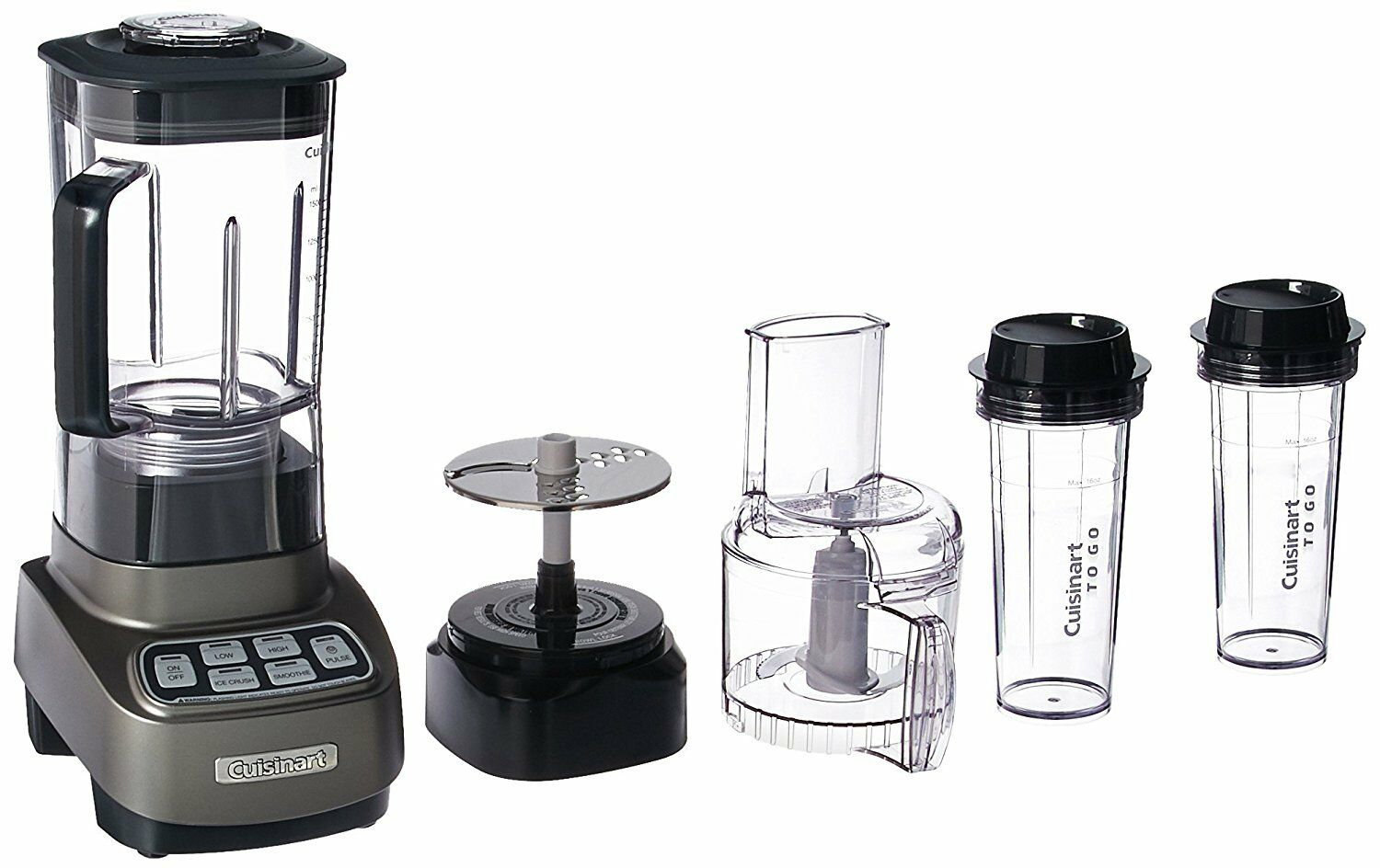 Cuisinart BFP-650GM Velocity Ultra Trio 1 HP Blender Robot culinaire avec Voyage