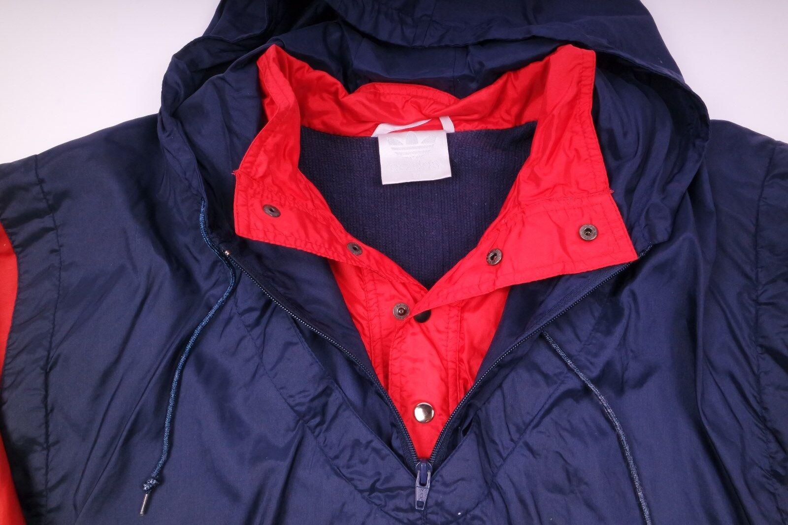 Rouge Vintage Windbreaker Bleu Retro De Pluie Adidas Veste Fawx0qPX