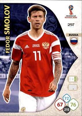 100% Kwaliteit Panini Wm Russia 2018 - Nr. 297 - Fedor Smolov - Team Mate Beroemd Voor Geselecteerde Materialen, Nieuwe Ontwerpen, Prachtige Kleuren En Prachtige Afwerking