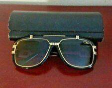 New Cazal MOD665 COL001 Black Gold Frame//Gray Lens Vintage Sunglasses Men