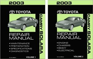 2003 toyota camry solara shop service repair manual book engineimage is loading 2003 toyota camry solara shop service repair manual