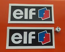 "x2 ELF STICKERS Decals  decals  6""  Superbike Racing Bike Hot Rod"