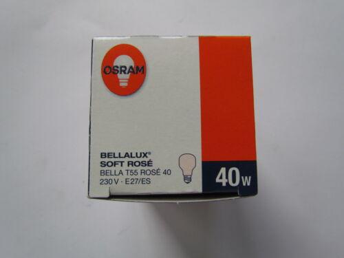 OSRAM Glühlampe BELLALUX SOFT ROSE E27 T55 40W BELLA  Neu