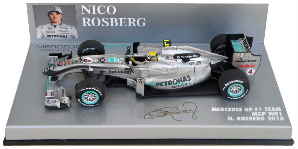 Minichamps mercedes gp F1 W01 2010-nico rosberg échelle 1 1 1 43 628378
