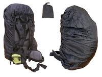 Rucksack Rain Waterproof Bag Travel Back Pack Backpack Poncho Cover Dry Black