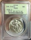 San Diego 1936-d 50c Silver Commemorative PCGS Ms65 (cac)