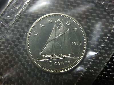 1975 Canadian Prooflike Dime $0.10