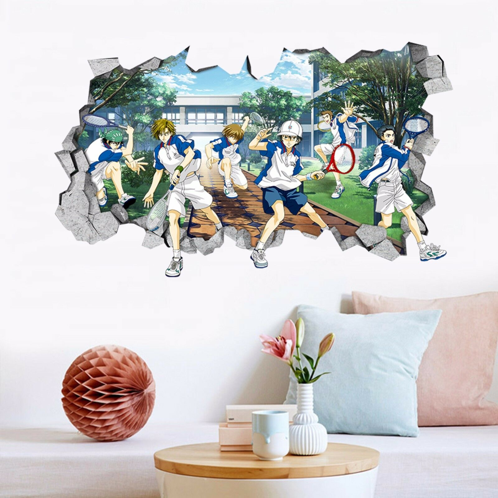 3D Tennisprinz 43 Mauer Murals Aufklebe Decal Durchbruch AJ WALLPAPER DE Kyra