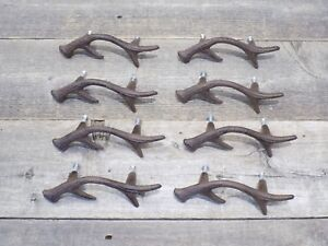 8 Handles Pulls Deer Antler Drawer Cabin Man Cave Door