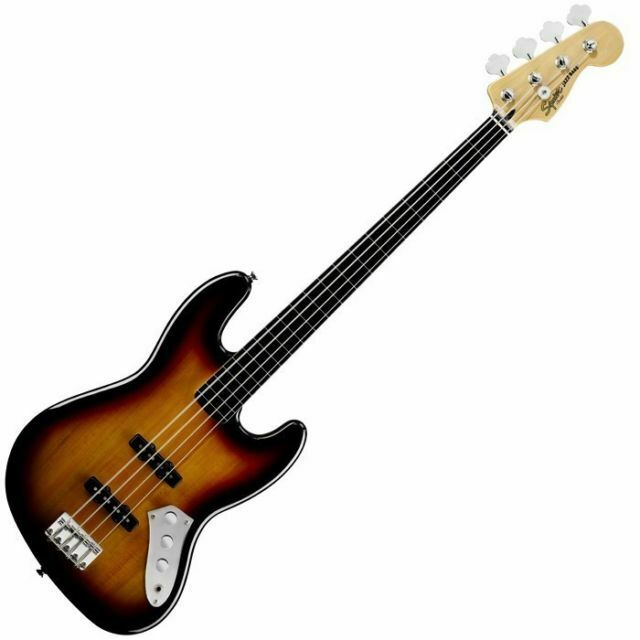 Squier Vintage Modified Jazz Bass Fretless 3 Color Sunburst 311705818 For Sale Online Ebay