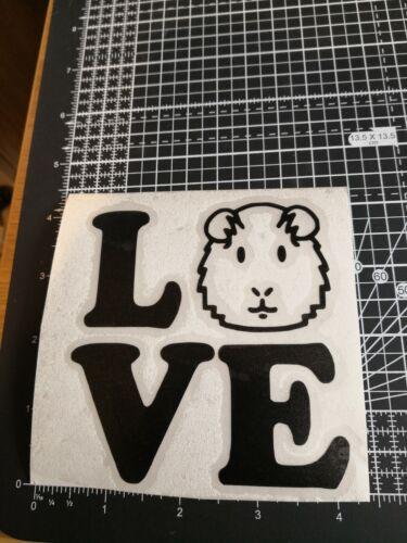 Guinea Pig Autocollant Vinyle Autocollant Multi voiture Fenêtre verre céramique Art Craft Love
