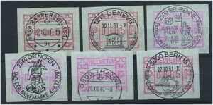 SCHWEIZ-1979-6x-ATM-Nr-3-gestempelt-47005