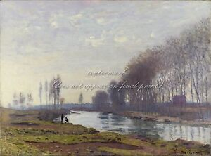 CLAUDE-OSCAR-MONET-Poster-or-Canvas-Print-034-Petit-Bras-of-the-Seine-at-Argenteuil