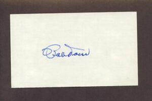 BOBBY DOERR Signed 3x5 Index Card Red Sox HOF
