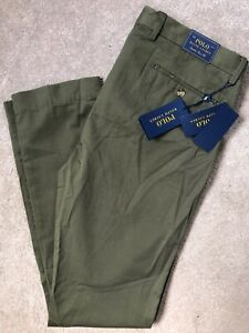 Ralph-Lauren-Polo-Gruen-M-Klassiker-Slim-Fit-Chinos-Hose-Hosen-34-034-NEW-tags