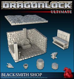 Details about Fat Dragon Games 28mm 3d Printed DRAGONLOCK ULTIMATE:  BLACKSMITH SHOP for RPG