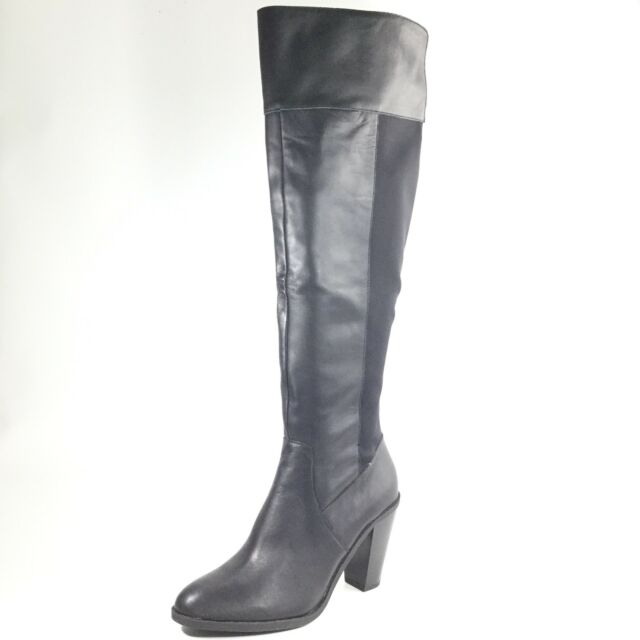 00b08e36b9f Kenneth Cole Reaction Very Clear Womens Size 6.5 M Black Motorcycle Boots.