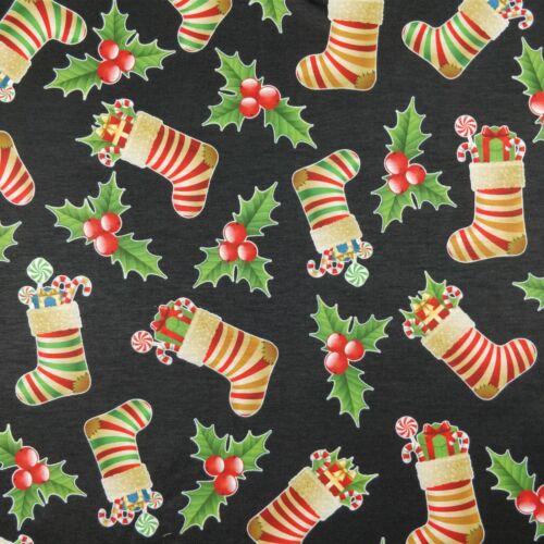 Christmas Fabrics Scuba /& Spun Poluyester Elastane Jersey Stretchy Fabric