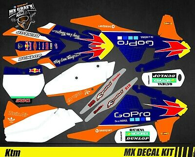 GoPro Blue Edition SX-F Kit Déco Moto pour Mx Decal Kit for Ktm SX