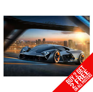 Lamborghini Terzo Millennio Poster Bb4 Print A4 A3 Size Buy 2