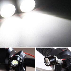 2X-Spotlight-Headlight-LED-Motorcycle-Handlebar-Driving-Light-Fog-Lamp-White-NEW