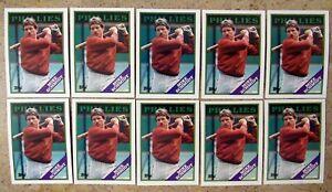 Mike Schmidt 1988 Topps #600 Philadelphia Phillies 10ct Card Lot
