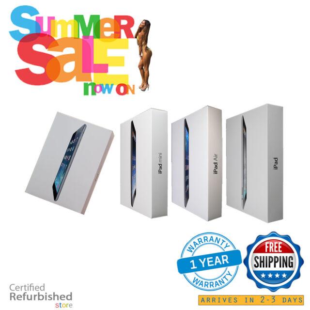 Apple iPad Air,mini 2,3,4 128GB/64GB/32GB/16GB Wi-Fi+4G Cellular Model