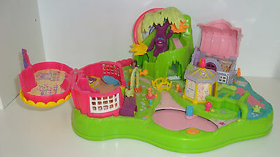 27x22cm Polly Pocket Amiable Grande Conjunto Polly Pocket Bluebird Toys 1997 Parque Broca Muñecas Modelo Y Accesorios