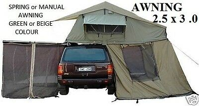NEW ROOF TOP TENT.CAMPER .RIPSTOP. TRAILER. ROOFTOP TENT 2.5 M X 3 M  + NET  MSQ