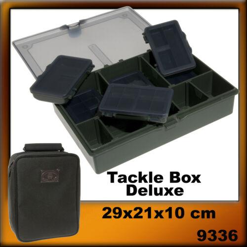BYRON PROTECT TACKLE BOX DELUXE ZUBEHÖR-TASCHE INKL.6 ZUBEHÖR-DOSEN Rausverkauf