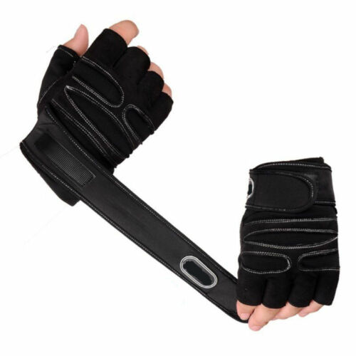Weight Lifting Gym Fitness Padded Gloves Men/'s Training Workout Wrist Wrap Strap