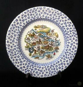 English-Ironstone-Blue-And-White-Chintz-Kent-Plate-14-5cm-FREE-Delivery-UK