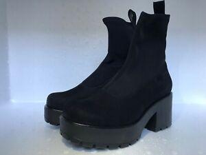 132a73e5516 Vagabond Dioon Black Nubuck Textile Stretch Sock Mid-Calf Boots EU36 ...