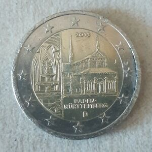 2 Euro Commémorative Allemagne 2013-Baden Wurtemberg- Atelier J- CIR-Qualité SUP