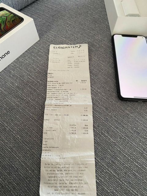 iPhone XS Max, 256 GB, sort, Perfekt, Super fed xs Max 256…
