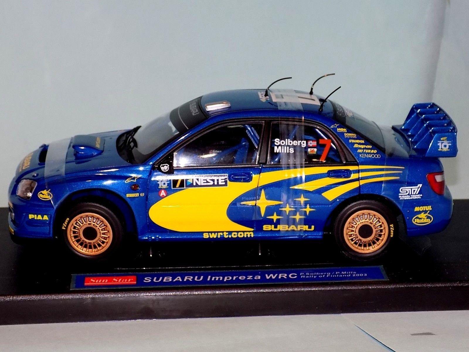 Subaru Impreza WRC Finland 2003 P.Solberg P.Mills 4362 SUN STAR 1 18