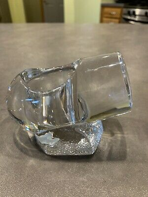 Vintage Orrefors of Sweeden glass tealight holder