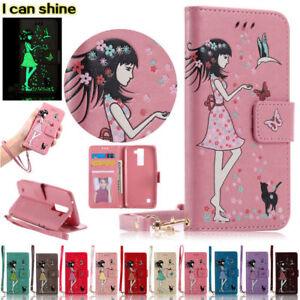 Luminous-PU-Flip-Card-Stand-Case-Wallet-Cover-For-Huawei-5A-6X-Nova-Y5-Mate-9