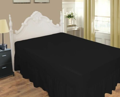 Extra Deep Pleated Fitted Valance Sheets Percale 180 Threat count Hotel Quality