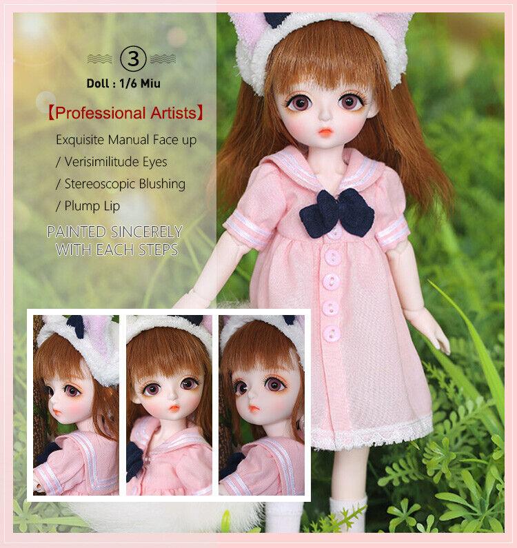 1 6 bambole bjd bambola Set completo Daisy MIU ZUCCHERO  FILATO rifusione MELISSA  supporto al dettaglio all'ingrosso