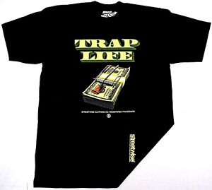 23af4bed644 STREETWISE TRAP LIFE T-shirt Urban Streetwear Tee Men L-4XL Black ...