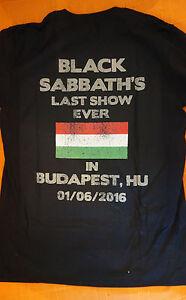 black sabbath the end tour 2016 budapest 1 6 2016 official t shirt size large ebay. Black Bedroom Furniture Sets. Home Design Ideas