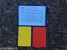 CALCIO Calcio Arbitro Portafoglio con cartellino rosso, cartellino giallo, carte di corrispondenza GRATIS P&P