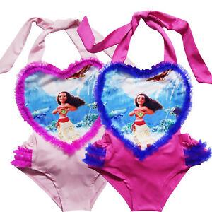 Image Is Loading Girls Bikini Bathing Suit Moana Swimsuit Kids Swimwear