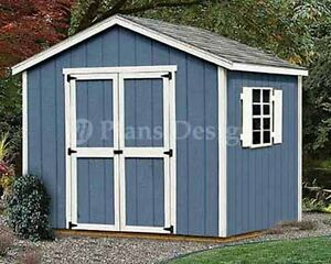Shed Plans, 8 x 8 Garden Storage Gable Roof Style Building Blueprints #20808