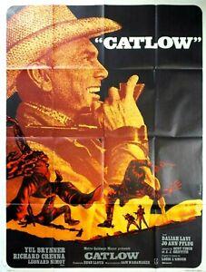 Plakat Kino Western Catlow Yul Brynner - 120 X 160 CM
