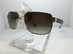 8c697f32595 AUTHENTIC RAYBAN RB 3530 001 13 GOLD BROWN GRADIENT LENS 58MM