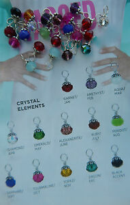 Retired /& RARE!!! NEW Authentic Origami Owl Silver Sparkle Ball Crystal Dangle