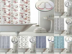 Image Is Loading Shower Curtains With 12 Decorative Rings Modern Bathroom