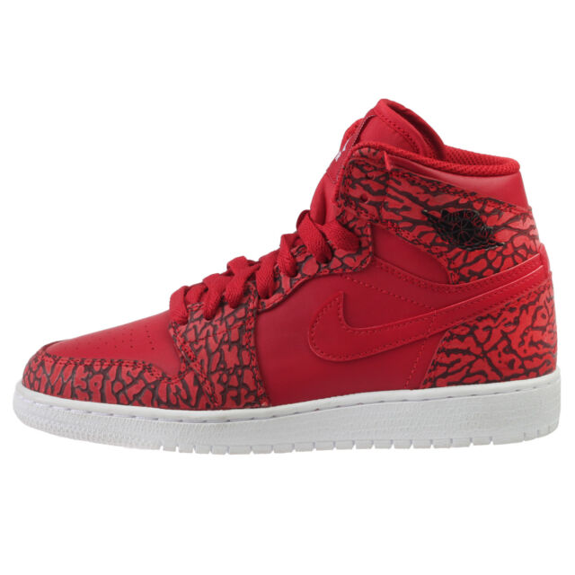 b185b89e8730 Air Jordan 1 Retro Hi Premium Big Kids 838850-600 Red Elephant Shoes Size  5.5
